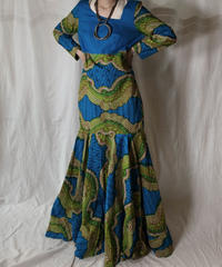 【USED】 African Batik One-piece⑥/210428-017
