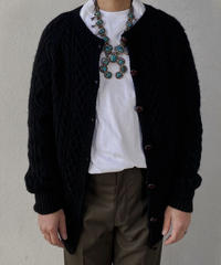 【MEND】 Kyoto Kurozome Aran Knit Cardigan ④ /210115-007