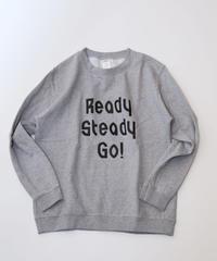 [READY STEADY GO]  Logo Sweat (Gray/Black)