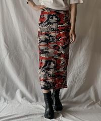 【UESD】 Poly Long Skirt/ 210602-007