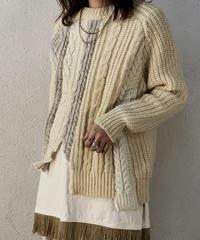 【RE;CIRCLE】 Patchwork Aran Knit ⑤ /210106-007