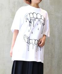 [yodare bear(ヨダレベア)] 牙 Big T-shirt (White)
