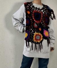 【RE;CIRCLE】 Granny Knit Poncho ① /210125-003