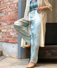 【Used】Satin Easy  Flower Pants /200728-013