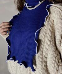 【RE;CIRCLE】L/S Mellow Rib Knit Square Collar ①