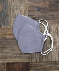 【Natural Dye】 New Silk Cotton × linen Organic Mask (Gray)  (2枚セット)