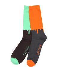 LIXTICK】2P Sox HI (Mint/Orange)