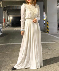 【Used】Frill Long dress  White