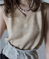 【USED】  Courreges Crochet Knit Vest/211014-042