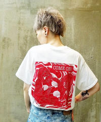 Ken Hamaguchi COLOR T-SHIRT (WHITExRED)