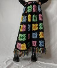【RE;CIRCLE】 RE Granny Knit Long Skirt⑤/211014-025