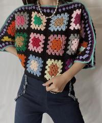 【RE;CIRCLE】 RE Granny Knit Top③/211014-003