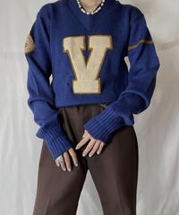 【USED】  Knit L/S Top V/211014-061