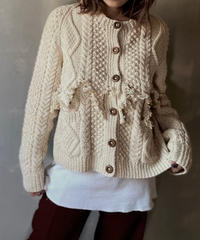 【RE;CIRCLE】 Fringe Cable Knit Cardigan ① / 201112-025