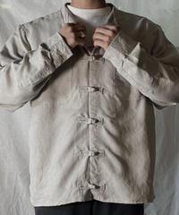 【USED】 Remake Fake Suede China Shirt⑤/210217-005