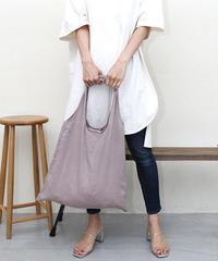 【Natural Dye】Organic Linen Tote Bag (Light Brown)