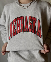 【USED】 90's USA Champion Reverse Weave Sweat NEBRASKA / 210127-064