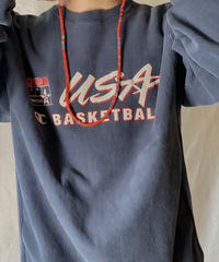 【USED】 90's Mexico Champion Reverse Weave Sweat USA BASKETBALL / 210127-062