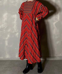 【USED】 L/S Ethnic Pattern Dress / 201120-006