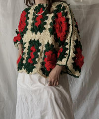 【RE;CIRCLE】 RE Granny Knit Top④/210421-011