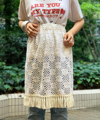 【RE;CIRCLE】Vintage Crochet Lace Mini Skirt