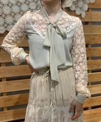 【Used】L/S Lace Ribbon Blouse / 200901-049