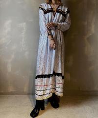 【USED】Satin Pattern Dress / 201104-027
