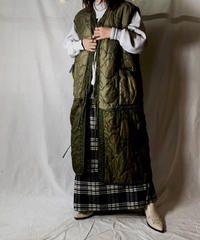 【RE;CIRCLE】 Remake Liner Piping Long Vest with  Ribbon ③ /210127-036
