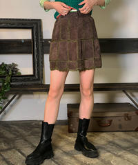 【Used】Suede skirt/ 201011-009