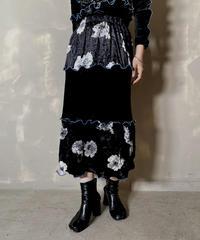 【RE;CIRCLE】 Mellow  Velour Skirt ③ / 201212-016