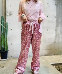 【Used】Satin Easy  Flower Pants