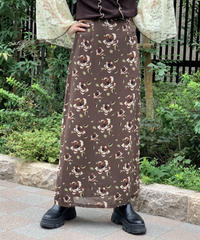 【Used】 Flower Long skirt / 200911-024