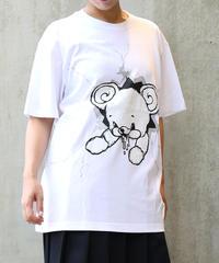 [yodare bear(ヨダレベア)] クラッシュ Big T-shirt (White)