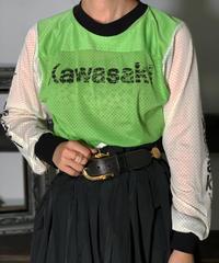 【Used】L/S KAWASAKI mesh Tops  /201008-005