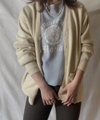 【USED】 Acrylic Knit Cardigan⑦ /210303-015