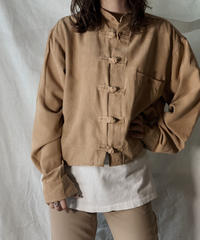 【USED】 Remake Fake Suede China Short Shirt③/210217-011