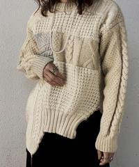 【RE;CIRCLE】 Patchwork Aran Knit ⑥ /210106-008