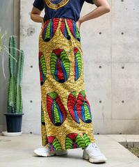 【Used】African Batik Long Skirt  /200716-00111
