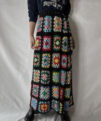 【RE;CIRCLE】 RE Granny Knit Long Skirt⑥/211014-026