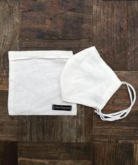 New Silk Cotton × linen Organic Mask (White)