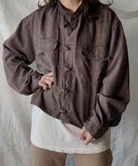 【USED】 Remake Fake Suede China Short Shirt①/210217-009