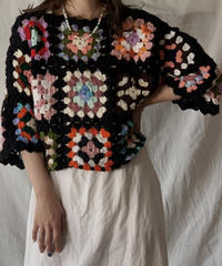 【RE;CIRCLE】 RE Granny Knit Top③/210421-009