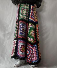 【RE;CIRCLE】 RE Granny Knit Long Skirt①/211014-012