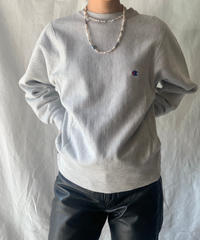 【USED】80's USA Champion Reverse Weave Sweat One Point /210213-008