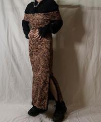 【USED】  Paisley Patterned Off Shoulder Dress/210310-029