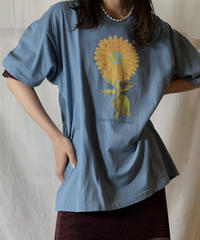 【USED】S/S T-shirt Flower③/210604-028