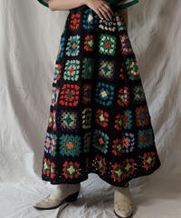 【RE;CIRCLE】 RE Granny Knit Long Skirt③/210421-015