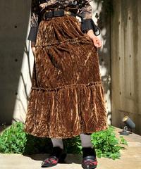 【Used】Velor Long skirt / 201001-030