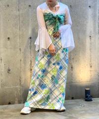 【Used】L/S  Cutback Flower Long Dress