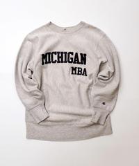 [USED] Champion Sweat Reverse Weave 4 (Gray/Michigan)